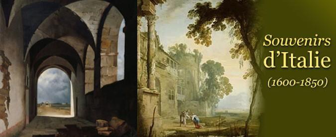 Affiche de l'exposition Souvenirs d'Italie au musée de la vie romantique