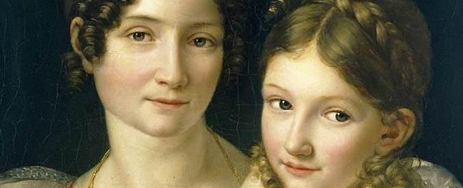 Portrait d'une mère et de sa fille par H-F. Riesener