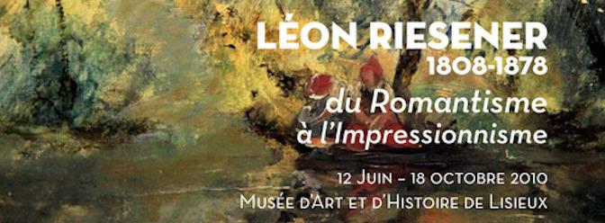 Affiche de l'exposition Léon Riesener à Lisieux en 2010