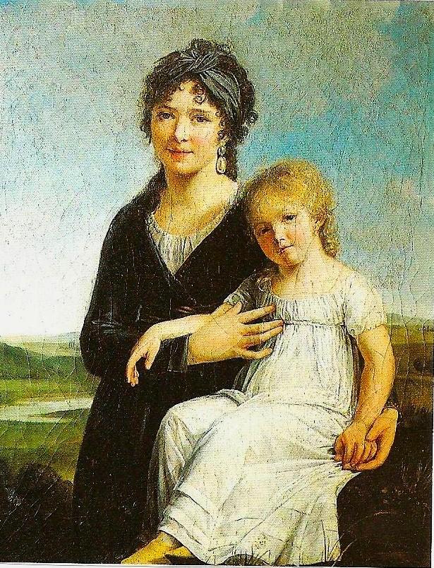 « Portrait de l'auteur et de sa fille » Constance Charpentier – Salon de 1799 – Huile sur toile – 81x103 cm. – Vente Monaco 7 décembre 1990 - © Christie's