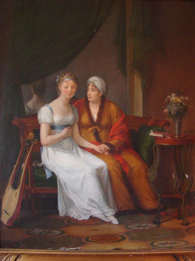 « Une mère recevant la confidence de sa fille », Constance Charpentier – Salon de 1812 - Huile sur toile – Coll. part. - © cl. auteur