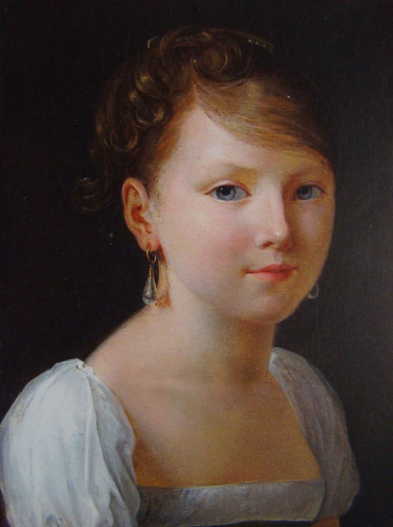 « La jeune fille à la perle », Constance Charpentier – Huile sur toile – 40,5x33 cm. – Vente Drouot 2 décembre 2005 - © Drouot.