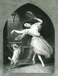 D'après Charles Steuben, La Esmeralda, 1841 Salon. gravure par Jean-Pierre-Marie Jazet, vers 1841. Bordeaux, Musée Goupil