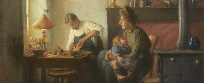 Léon Delachaux, la famille du cordonnier (détail)