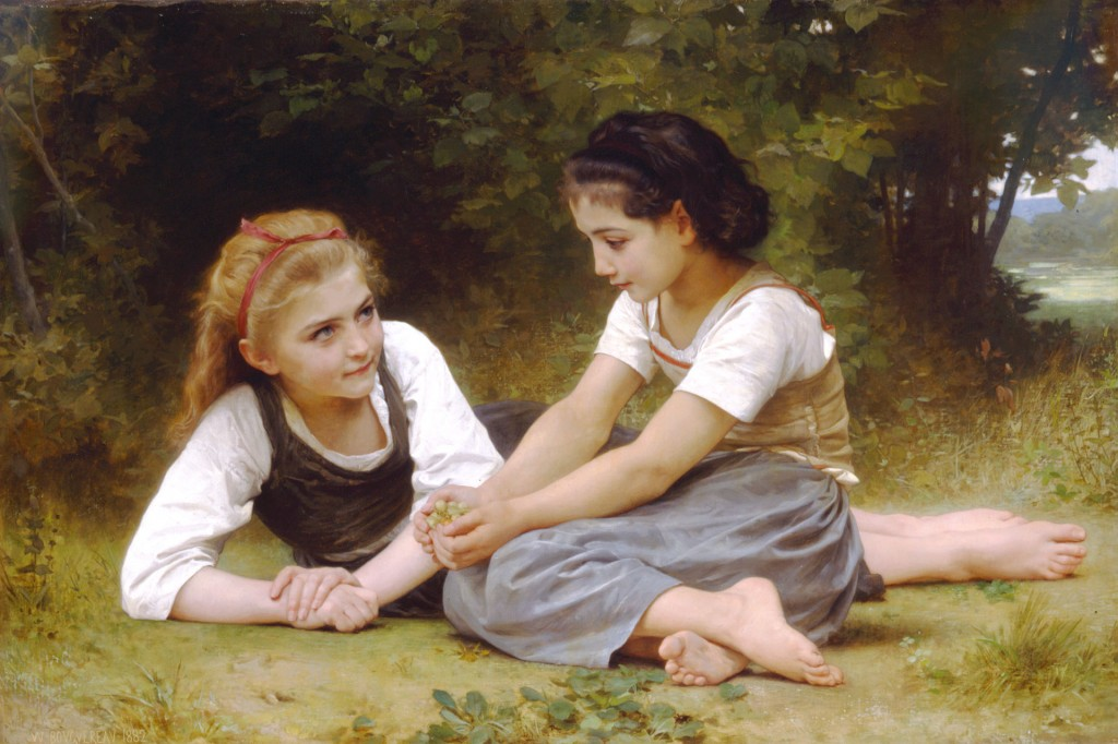 William Bouguereau, Les Noisettes