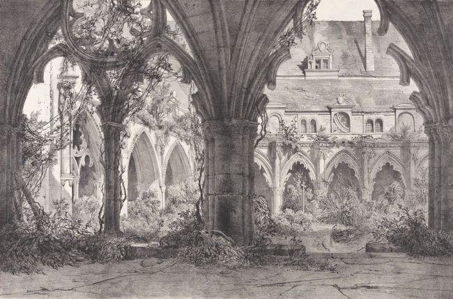 Adrien Dauzats, Cloître de l'abbaye Saint-Jean-des-Vignes à Soissons