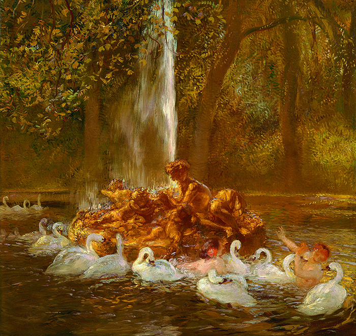 Gaston La Touche, Bassin doré