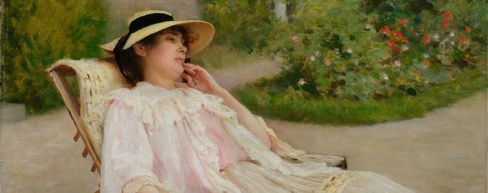 Portrait de Mme Debat-Ponsan allongée par Debat-Ponsan