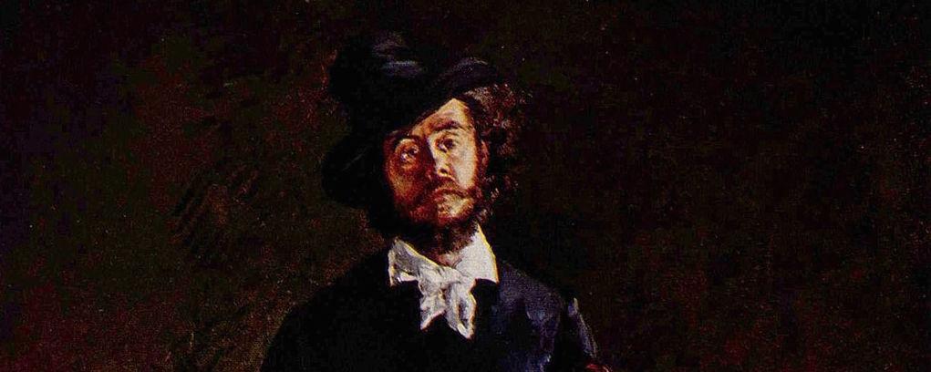 Manet, L'Artiste : Marcellin Desboutin (1875), détail