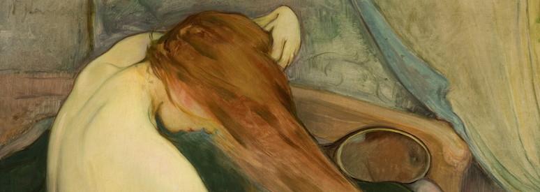 Slewinski, Femme se peignant