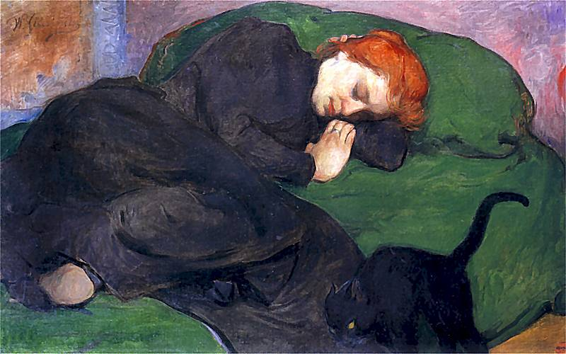 Femme endormie au chat, Collection privée, 1896