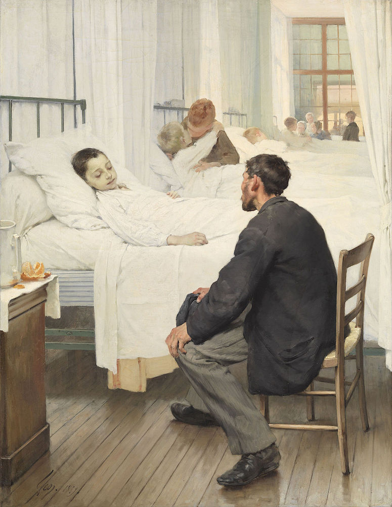 Geoffroy, Jour de visite hôpital