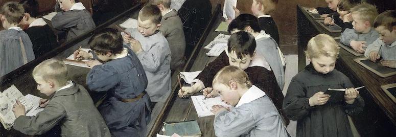 Jean Geoffroy, en classe