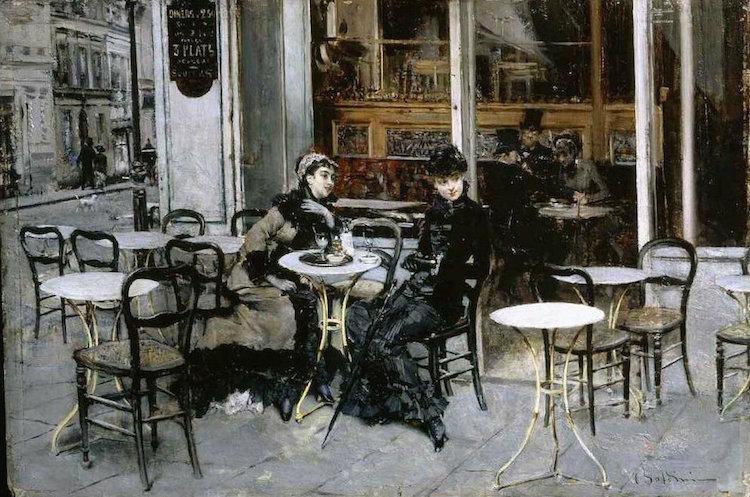Boldini, Conversation au café