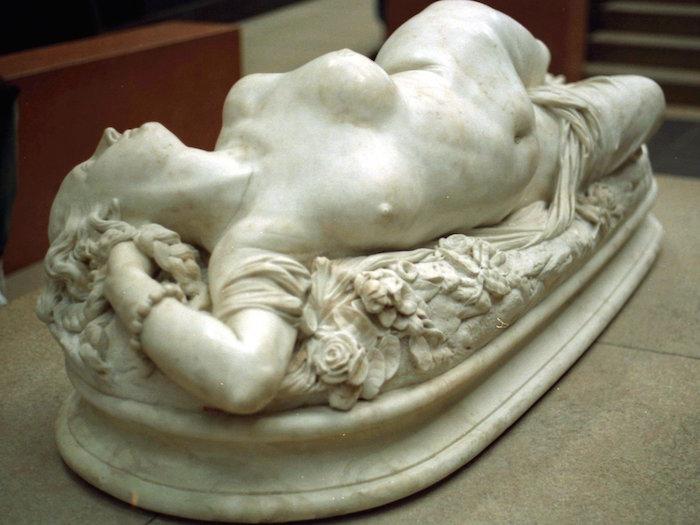 Femme piquée par un serpent en 1847
