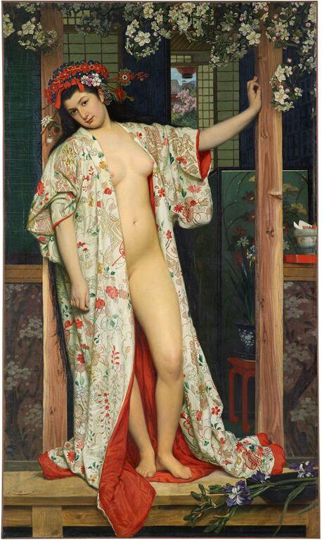 James Tissot, La Japonaise au bain