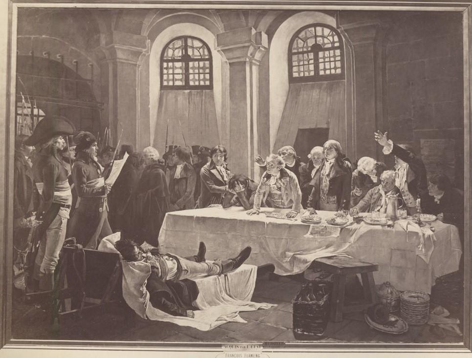 L'APPEL DES GIRONDINS, LE 30 OCTOBRE 1793: PRISON DE LA CONCIERGERIE, 1879, huile sur toile, H.293 ; L. 400 cm, Boulogne-sur-Mer, Château-musée de Boulogne-sur-Mer.