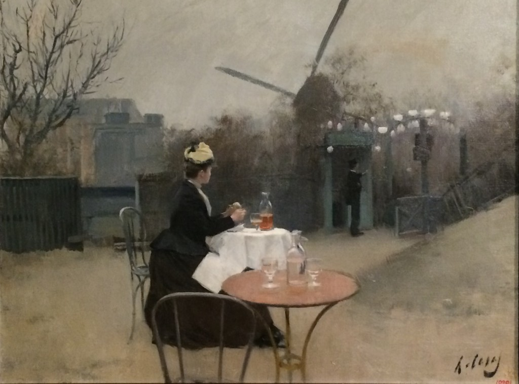 Ramon Casas, Plein air, vers 1890-91, Huile sur toile, MNAC