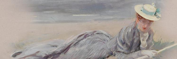 Femme sur la plage par Helleu