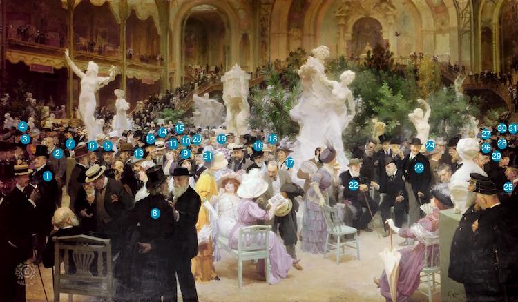 Jules Grün, Un vendredi au Salon des Artistes Français,