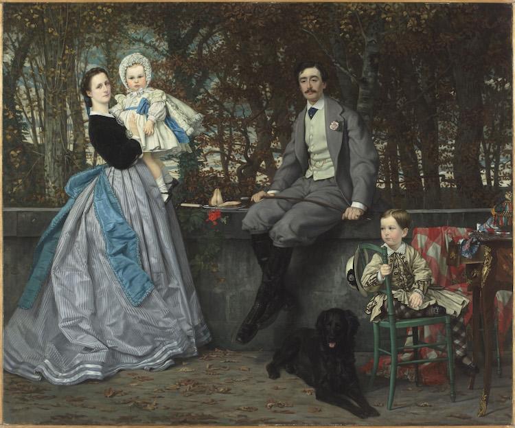 James Tissot, Portrait du marquis et de la marquise de Miramon et de leurs enfants