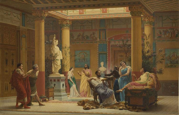 Gustave Boulanger, Répétition du « Joueur de flûte » et de la « Femme de Diomède » chez le prince Napoléon