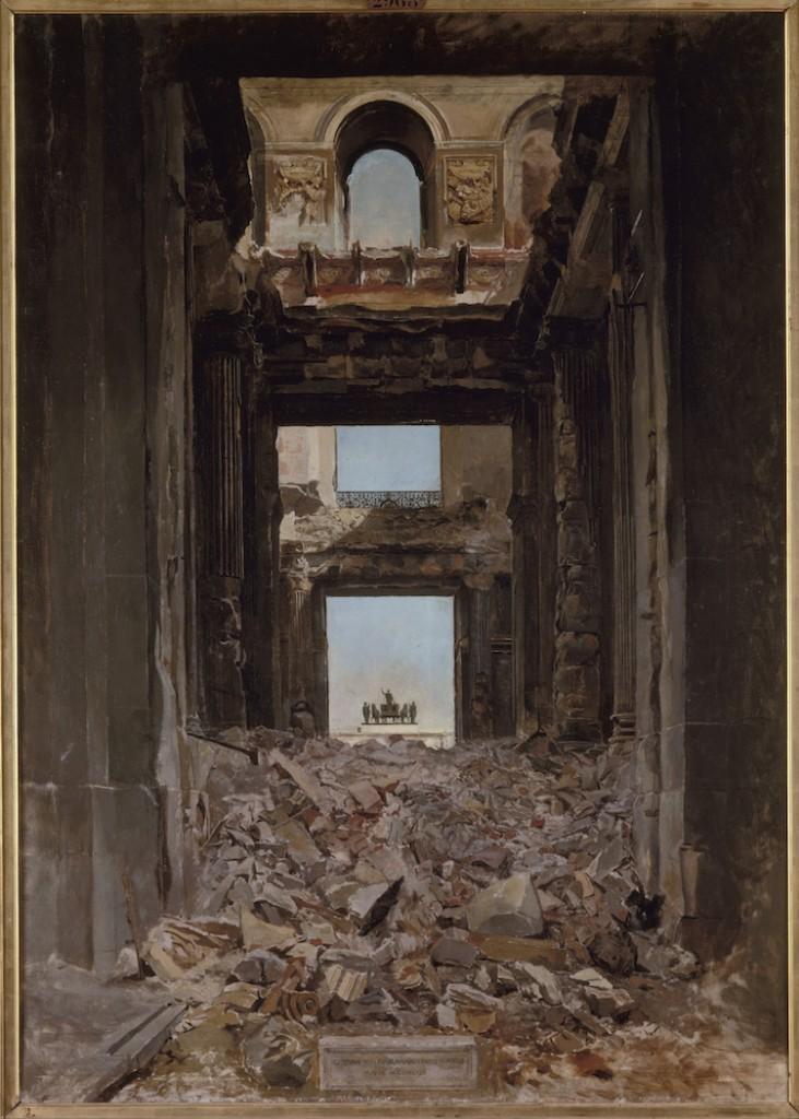 Ernest Meissonier, Ruines des Tuileries