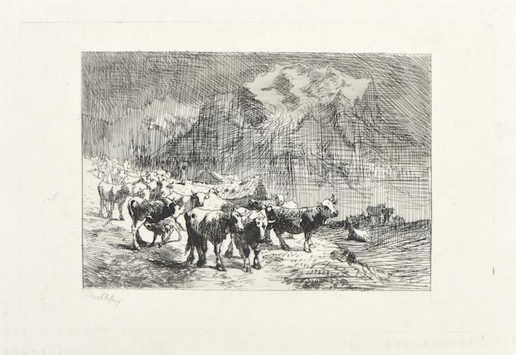 Un troupeau de vaches dans l'Oberland, Vuillefroy