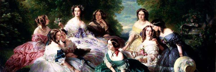 L'impératrice Eugénie entourée de ses dames d'honneurs par Winterhalter, 1855
