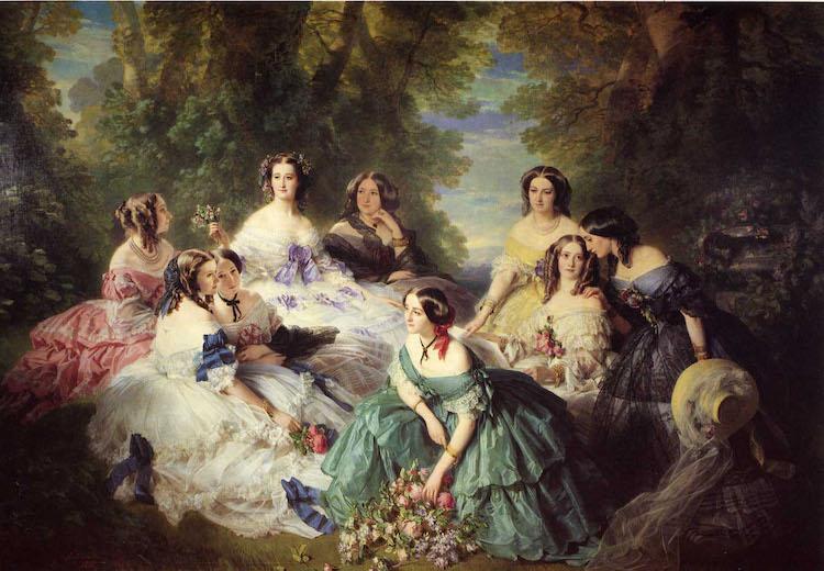 Franz-Xaver WInterhalter, l'impératrice Eugénie entourée de ses dames d'honneur,