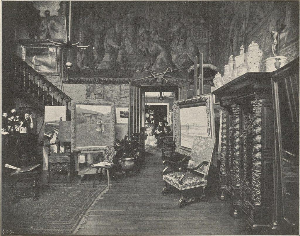 L'atelier d'August Hagborg