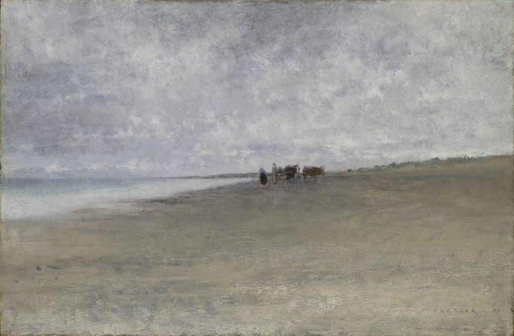 Temps gris sur le bord de mer, August Hagborg