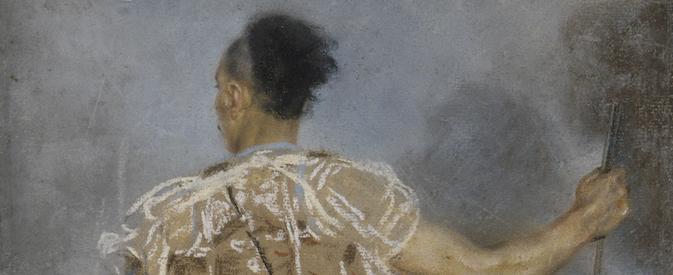 Jules-Robert Auguste, pastel d'un Soldat grec