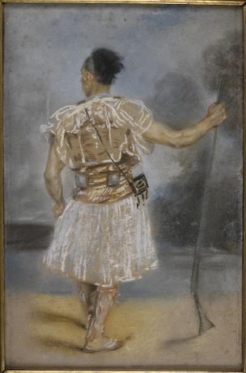 Soldat grec, pastel de Mr Auguste