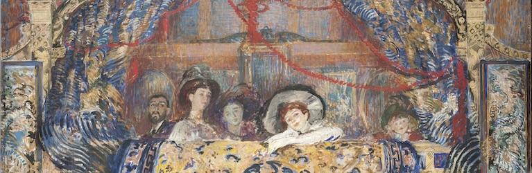 Jacques-Émile Blanche, Loggia avec cinq personnages, 1911-1912_Huile sur toile, 125 x 313cm © Musées de la ville de Rouen : Agence Albatros