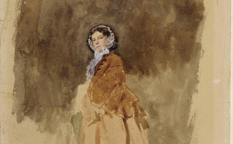 Ernest Meissonier, Portrait d'Apollonie Sabatier, 1853
