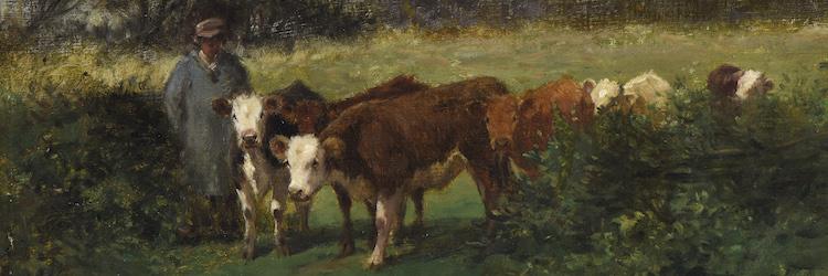 Vuillefroy, Paysan et ses vaches