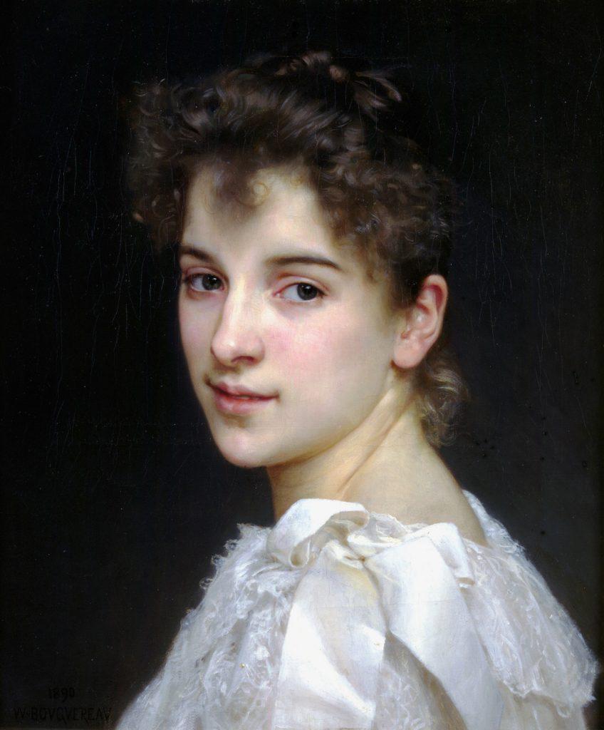 Portrait de Gabrielle Cot par Bouguereau